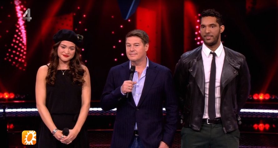 Richy Brown, rechts, in The Voice of Holland op RTL 4