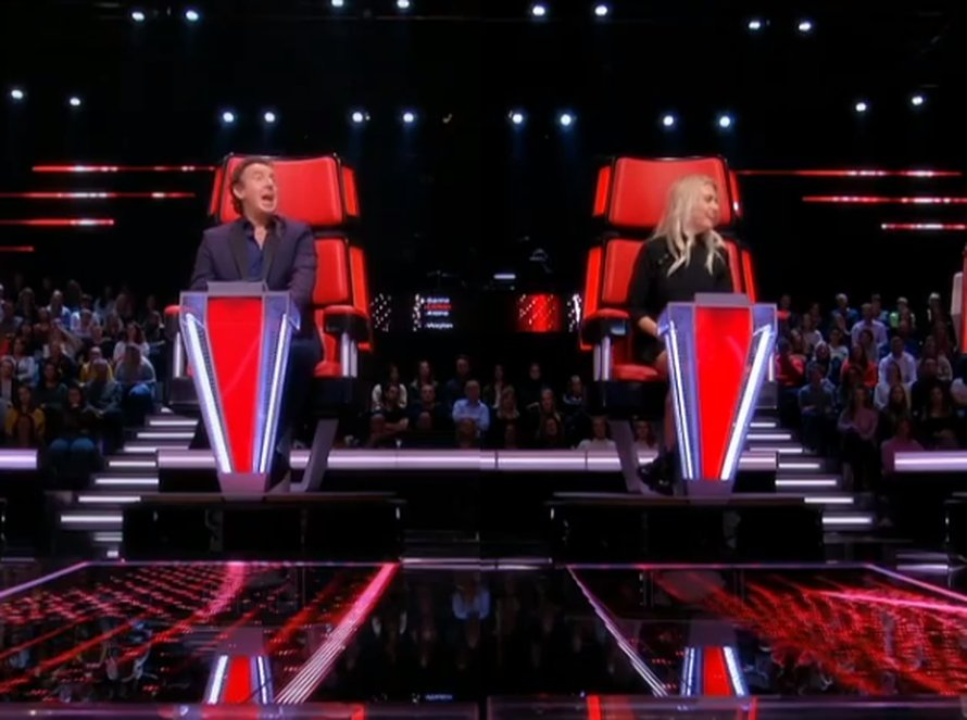 Marco Borsato en Miss Montreal/Sanne Hans in The Voice of Holland op RTL 4