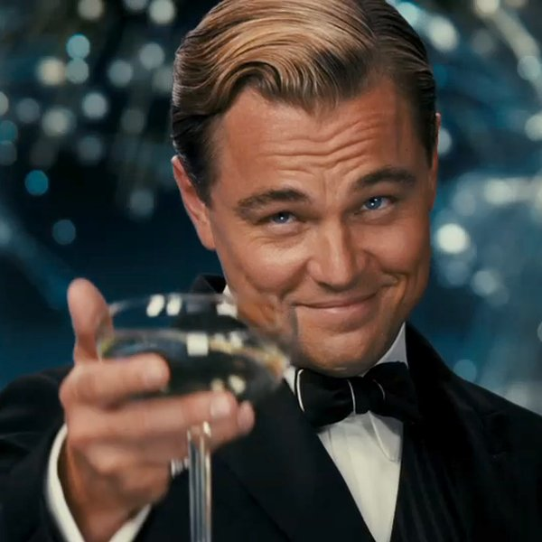 Leonardo DiCaprio als Jay Gatsby in The Great Gatsby