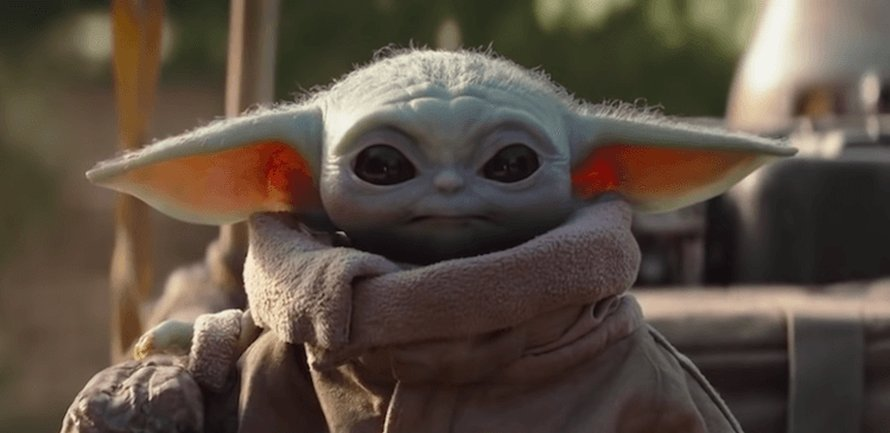 Baby Yoda in The Mandalorian op Disney+