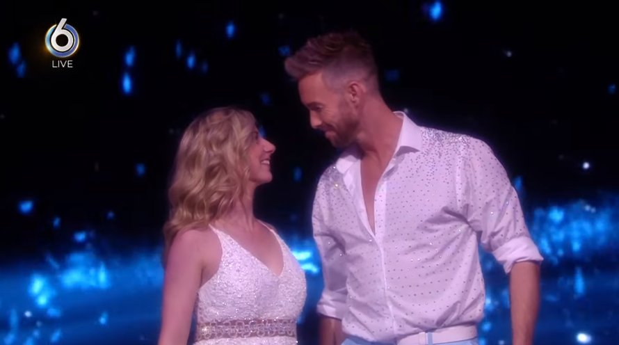 Charly Luske en danspartner Shelby in Dancing on Ice op SBS6