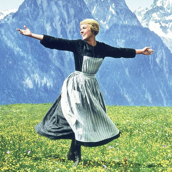 Julie Andrews in The Sound of Music uit 1965