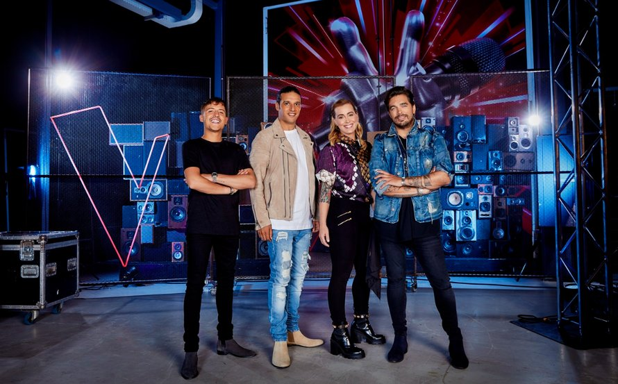 Groepsfoto coaches The Voice of Holland