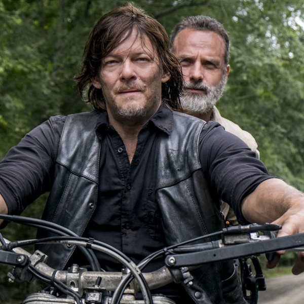 Rick en Daryl in The Walking Dead Seizoen 9 op Netflix