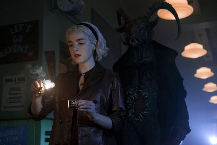 Kiernan Shipka in Chilling Adventures of Sabrina op Netflix