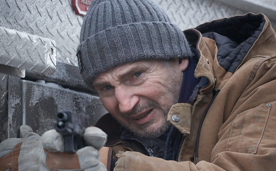 Liam Neeson in The Ice Road op Netflix 2021