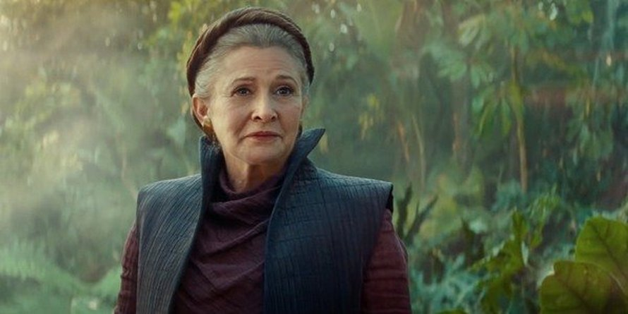 Carrie Fisher als Leia in Star Wars: The Rise of Skywalker