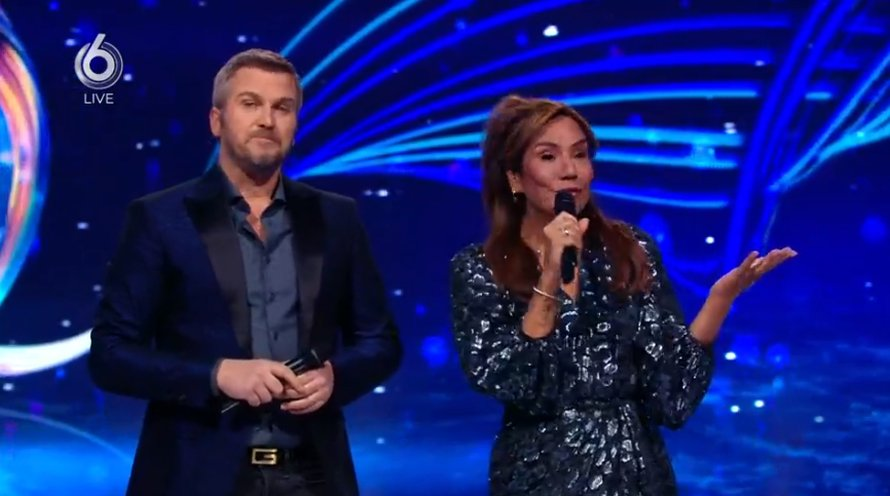 Winston Gerschtanowitz en Patty Brard in Dancing on Ice op SBS6