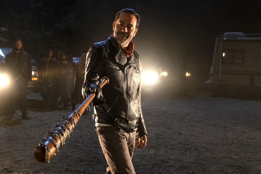 Negan en Lucille in The Walking Dead