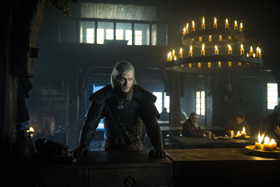 Henry Cavill als Geralt of Rivia in The Witcher op Netflix