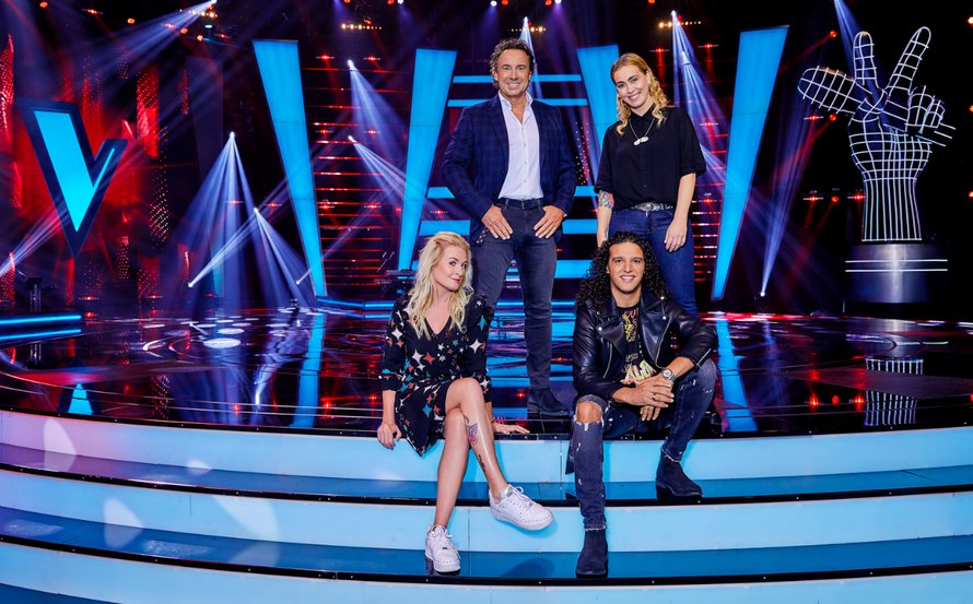 The Voice Kids coaches groepsfoto