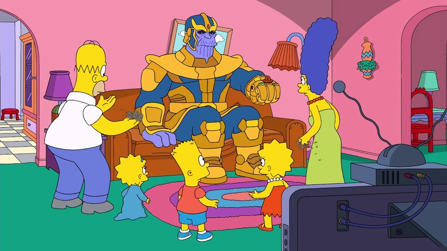 Thanos in The Simpsons