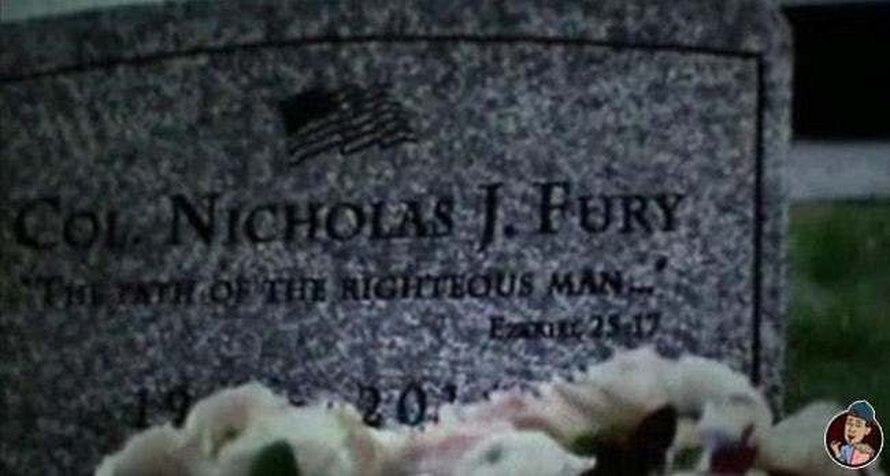 Nick Fury tombstone