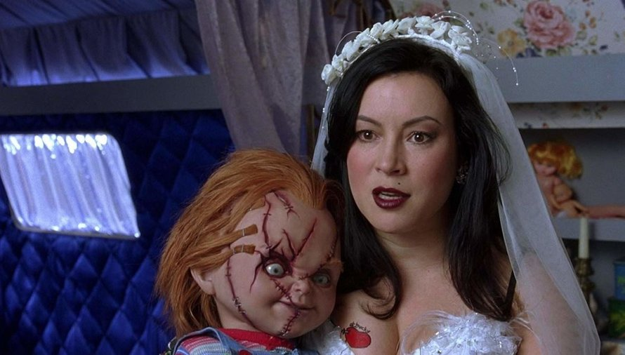 Jennifer Tilly en Chucky in Bride of Chucky