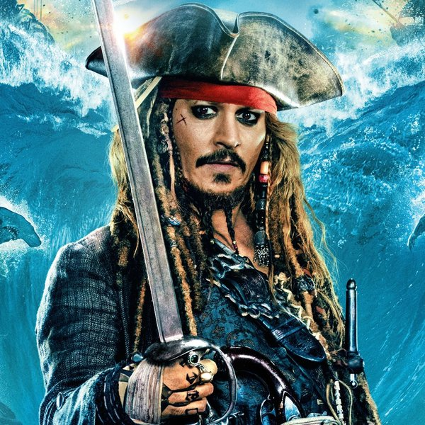 Johnny Depp als Captain Jack Sparrow in Pirates of the Caribbean