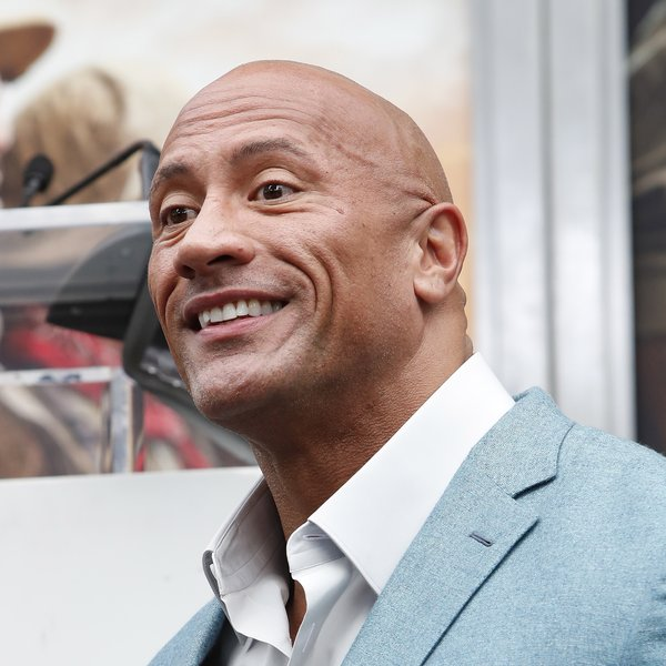 Dwayne Johnson bij het TCL Chinese Theatre in Hollywood