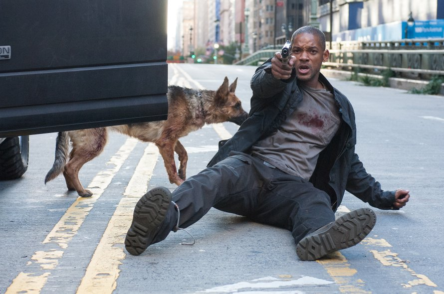 I Am Legend Will Smith hond