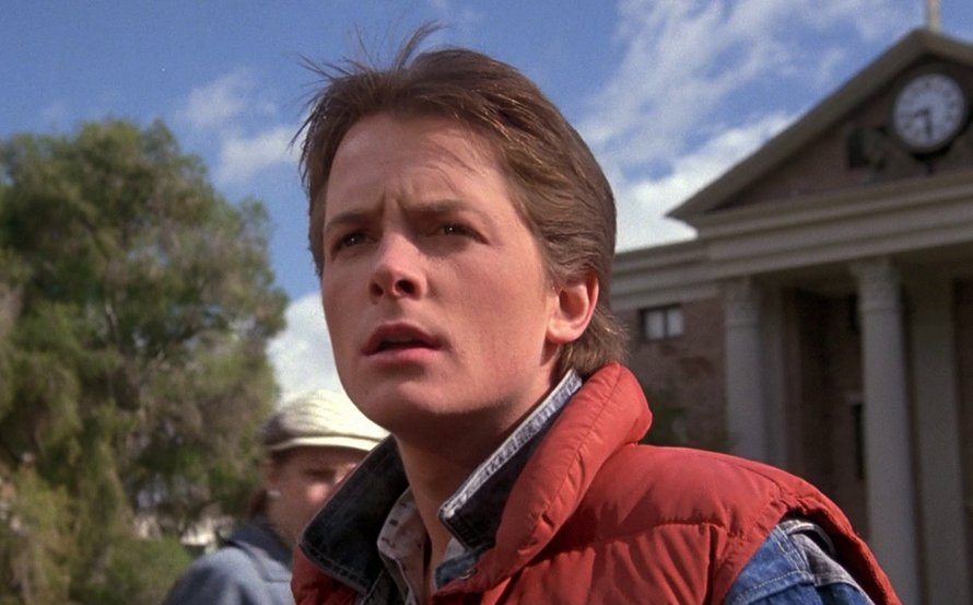 Michael J Fox in Back to the Future 1985