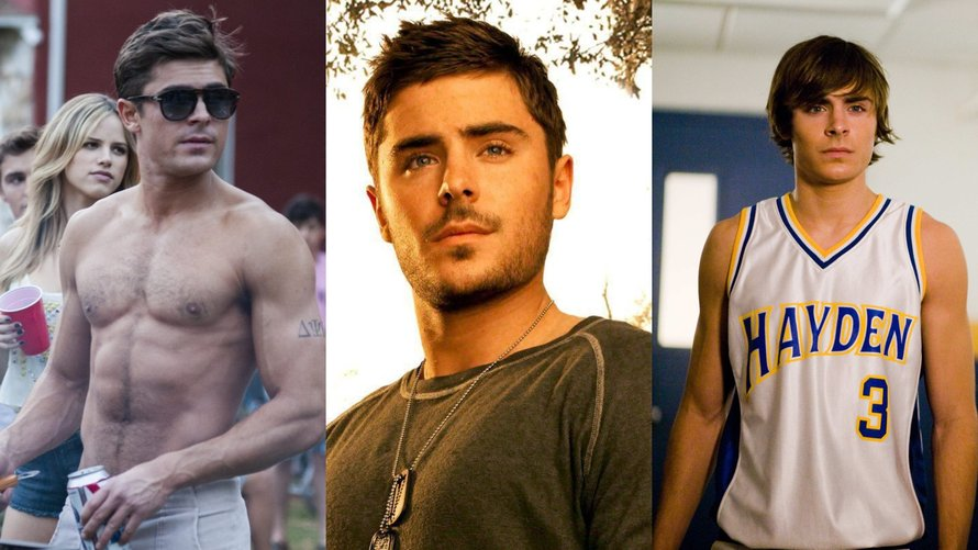 Zac Efron in Bad Neighbours, The Lucky One en 17 Again