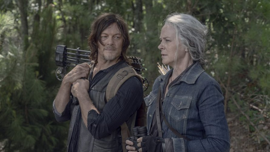Daryl en Caroll in The Walking Dead