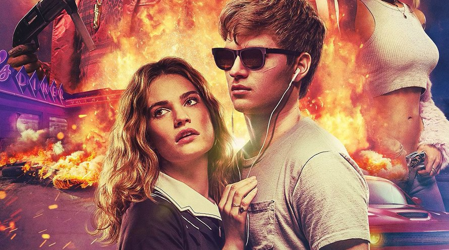 Ansel Elgort en Lily James in Baby Driver