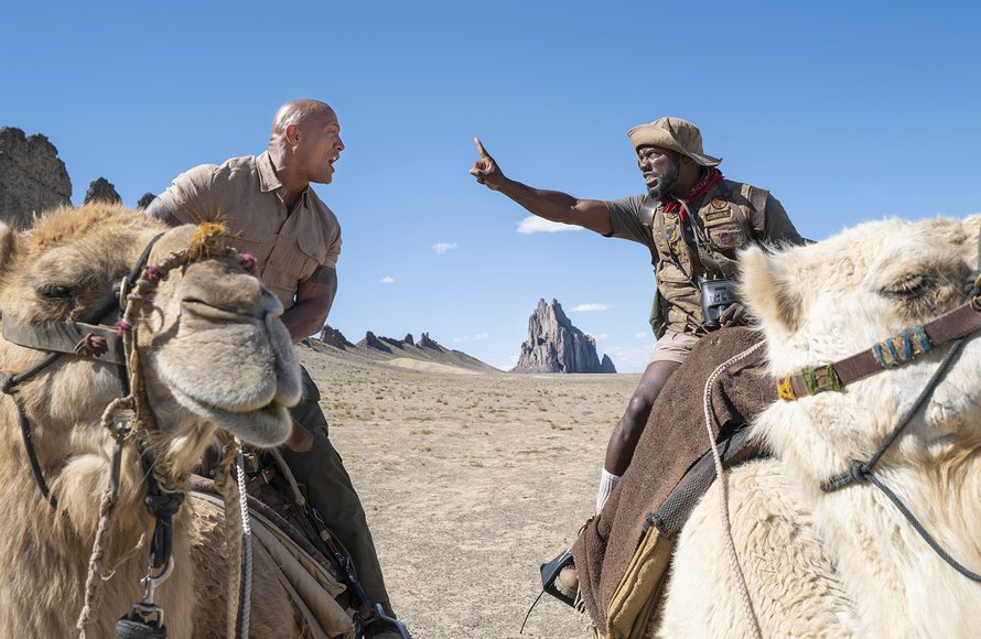 Dwayne Johnson en Kevin Hart in Jumanji: The Next Level