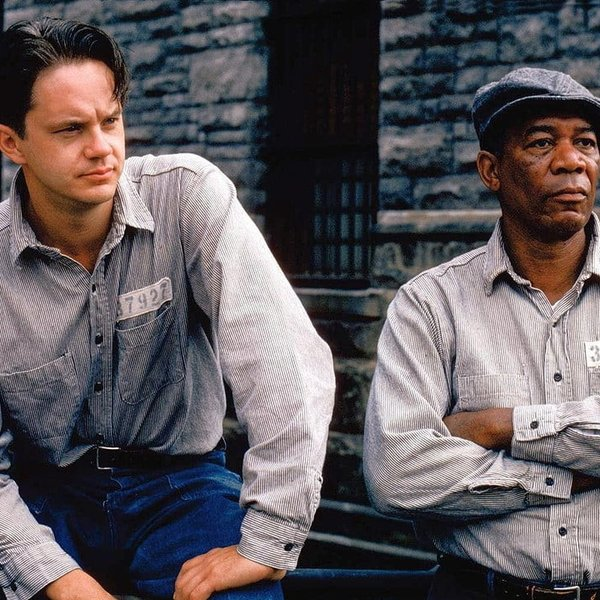 Tim Robbins en Morgan Freeman in The Shawshank Redemption