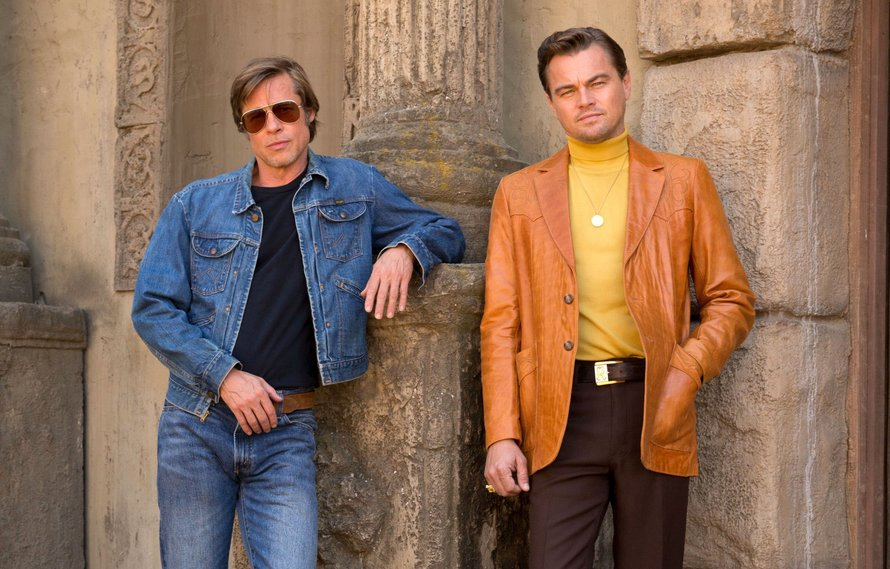 Leonardo DiCaprio en Brad Pitt in Once Upon A Time In Hollywood
