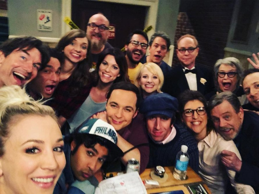 The Big Bang Theory Cast selfie