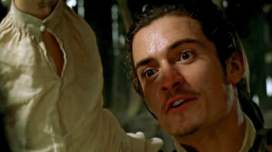 Orlando Bloom in Pirates of the Caribbean: The Curse of the Black Pearl