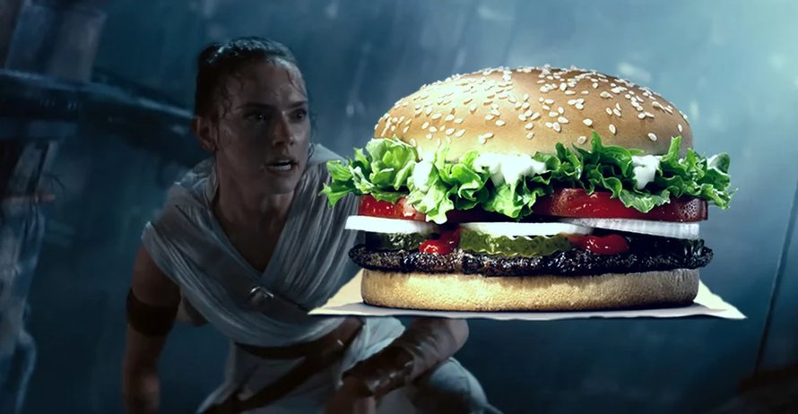 Daisy Ridley en een burger in Star Wars: The Rise of Skywalker